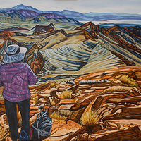 Oil painting The Ridge by Crystal Dipietro