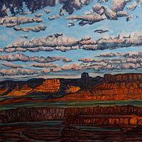 Oil painting Canyonlands by Crystal Dipietro