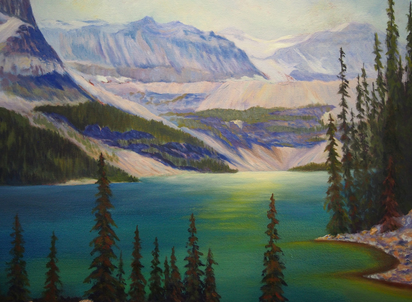 Oil painting Boom Lake by Brent Ciccone