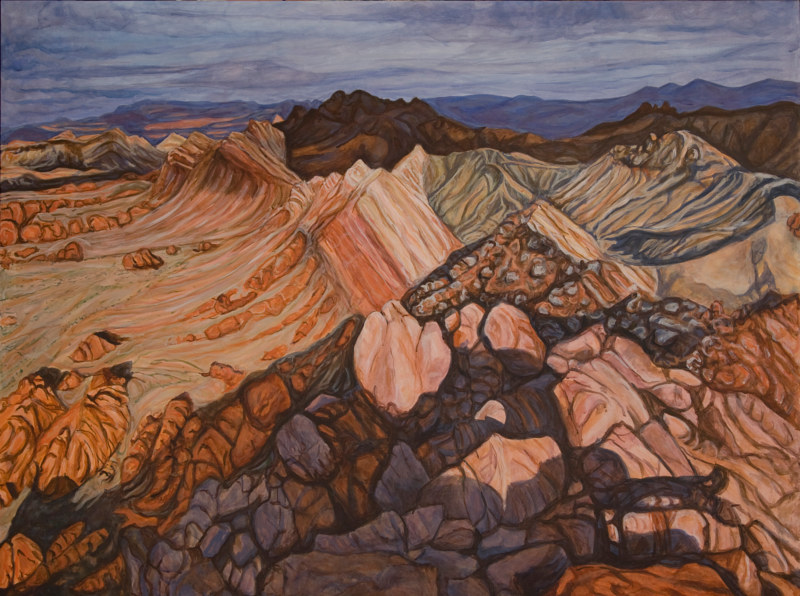 Acrylic painting Another View From Sentinel by Crystal Dipietro