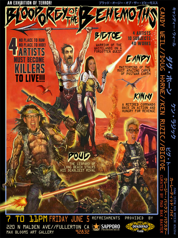 Painting Promotional Poster Five: Warriors of the Wasteland by Kenneth M Ruzic