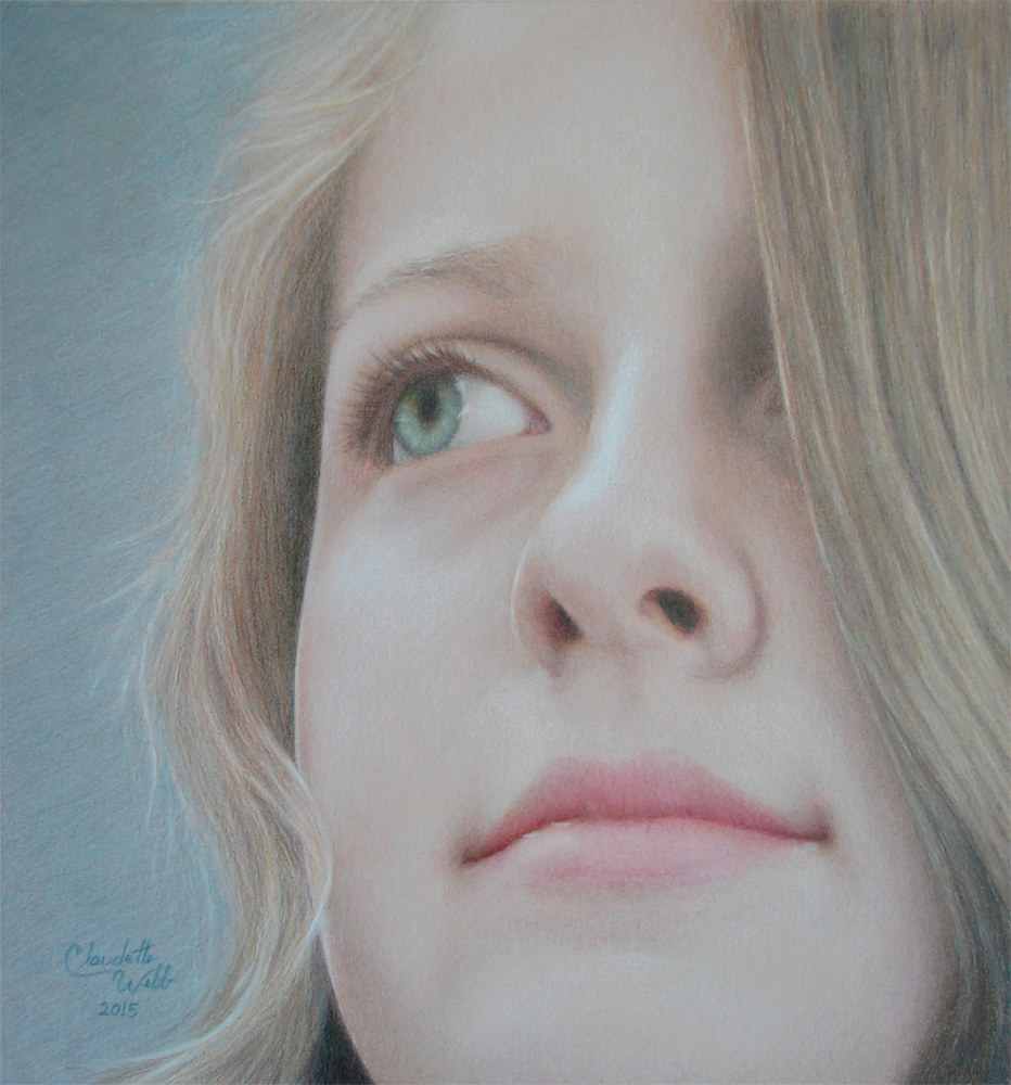Drawing Kalli at 13 by Claudette Webb