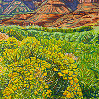 Oil painting Rabbitbrush by Crystal Dipietro
