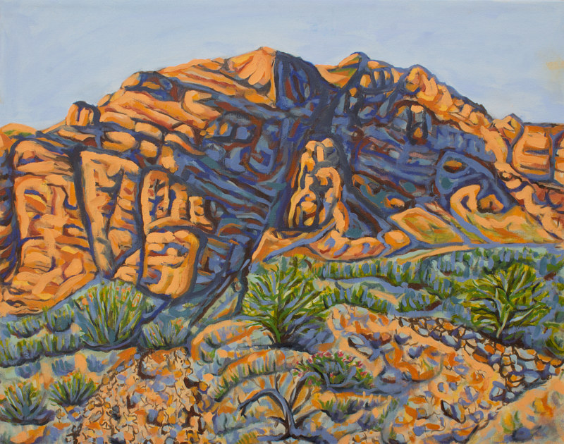 Oil painting Gale Hills by Crystal Dipietro