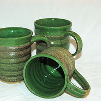 Green cups by Jack Caselles