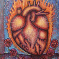 Acrylic painting The Illuminated Heart by Emily K. Grieves