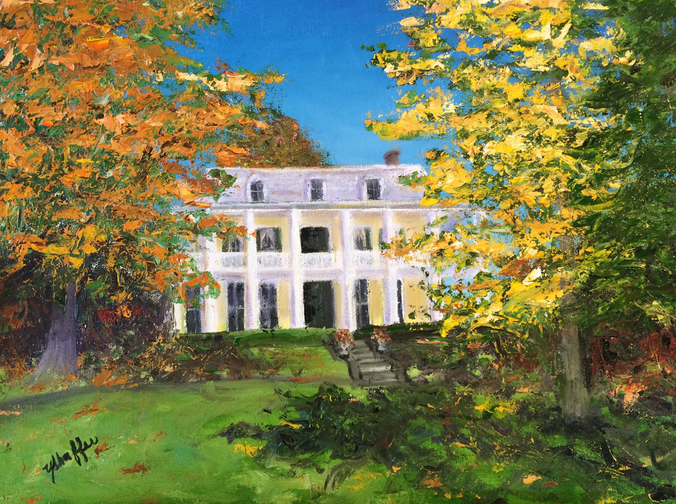 Oil painting Baldwin Reynolds Home by Yvonne Shaffer