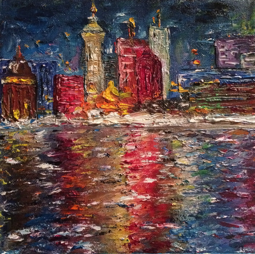 Oil painting Bayfront by Yvonne Shaffer