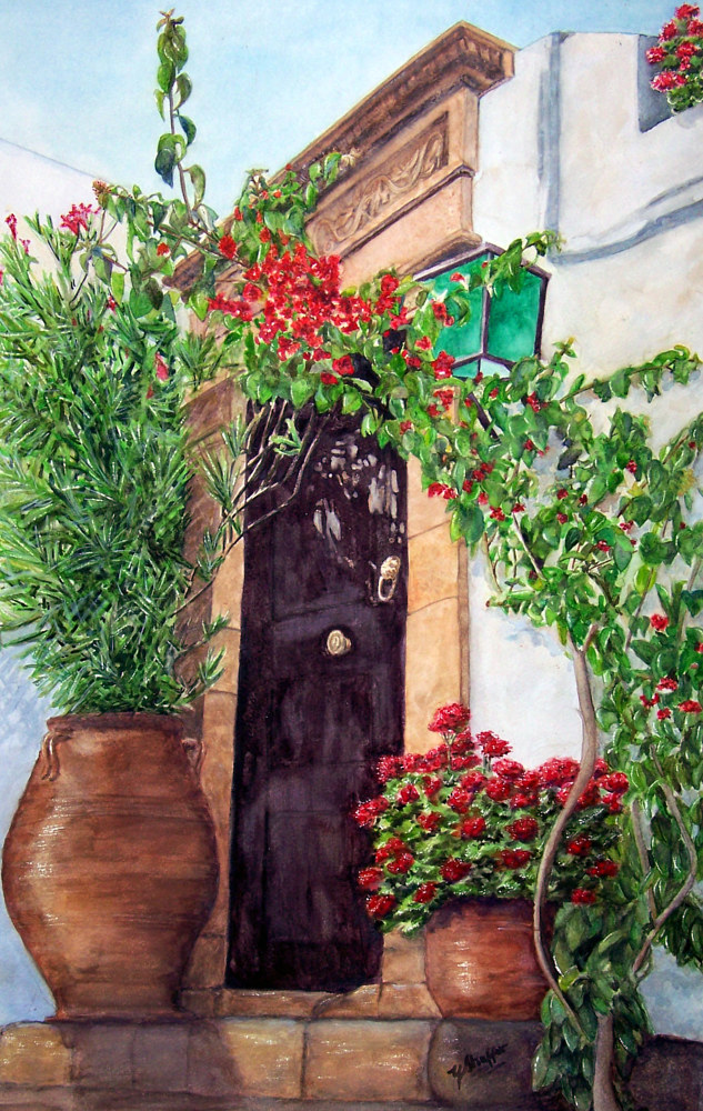 Greek Doorway by Yvonne Shaffer
