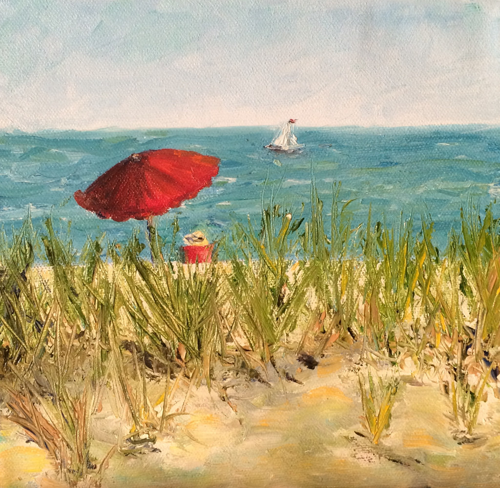 Oil painting Beach Day by Yvonne Shaffer