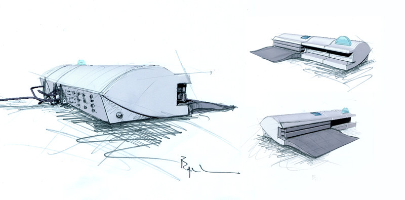 Medical packaging machine -concept sketches by John Greg Ball