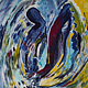 Acrylic painting Dance of the Swan | La Danse du Cygne by Nathalie Gribinski