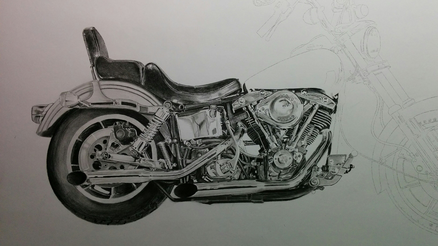 Pencil6LowRider Progress 6 by Dave Wishart