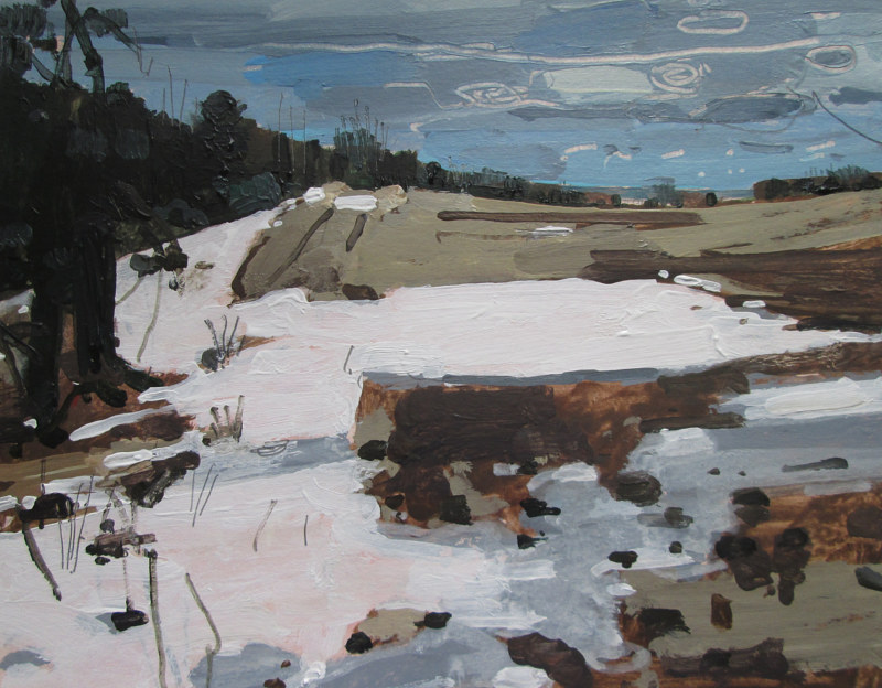 Acrylic painting Easter Morning, Snow Patch by Harry Stooshinoff
