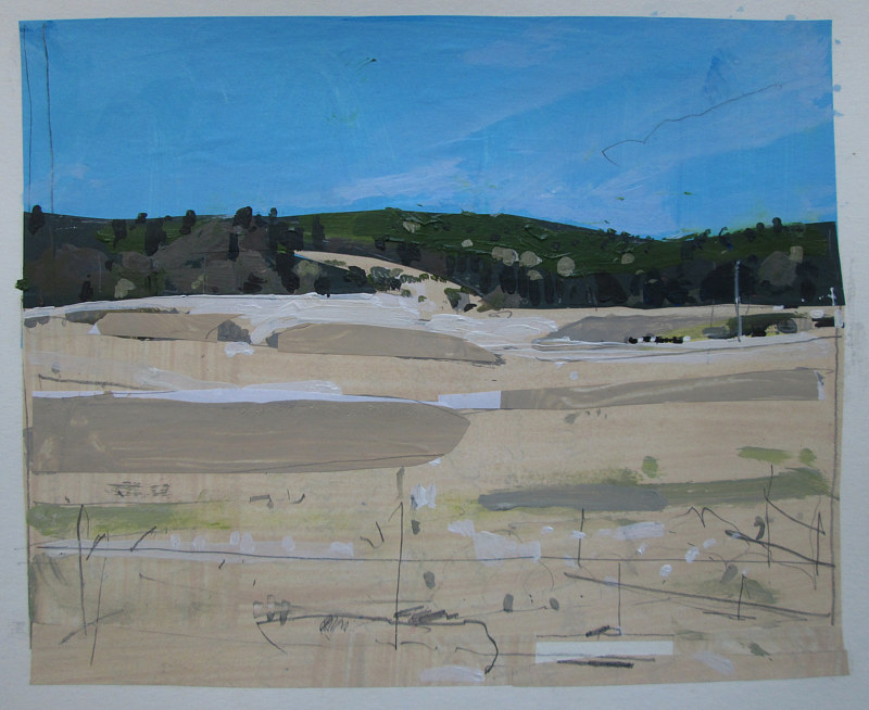 Acrylic painting Coyote Hill, April 18 by Harry Stooshinoff