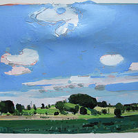 Acrylic painting 10 Saved Acres, June 29 by Harry Stooshinoff