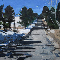 Acrylic painting March 29, On The Safe Mile by Harry Stooshinoff