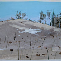 Acrylic painting Little Snow Patch  by Harry Stooshinoff