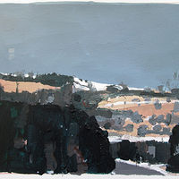 Acrylic painting March 6, Tommy's Hill by Harry Stooshinoff