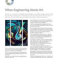 When Engineering Meets Art - The Professional Edge Magazine (May/June, 2015) by Bruno Hernani