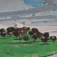 Acrylic painting Orchard Asleep by Harry Stooshinoff