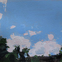 Acrylic painting Home Sky, July by Harry Stooshinoff