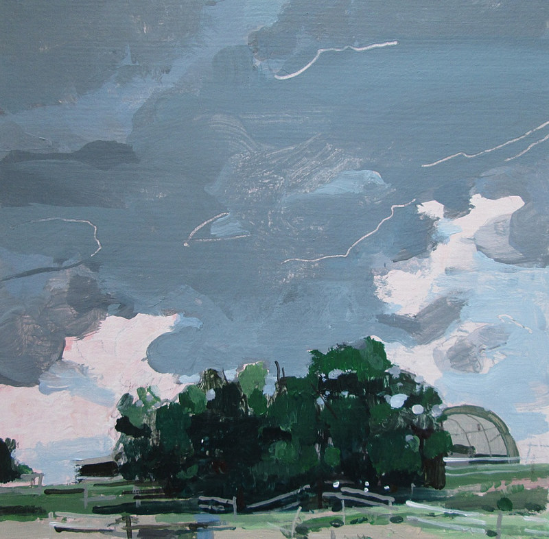 Acrylic painting Sky Over Paddock, July 31 by Harry Stooshinoff