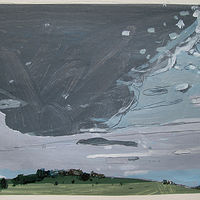 Acrylic painting Tall Sky, August 1 by Harry Stooshinoff