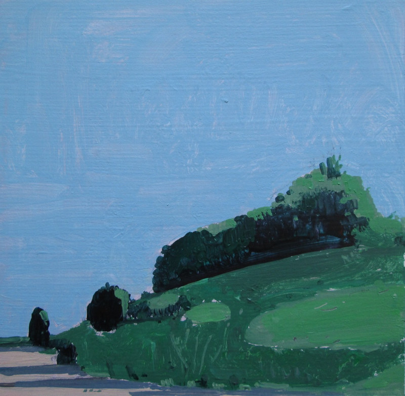 Acrylic painting Tragedy Hill, 6:50 p.m. by Harry Stooshinoff