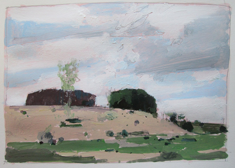 Acrylic painting Toward Lost Dog Hill, October 10 by Harry Stooshinoff