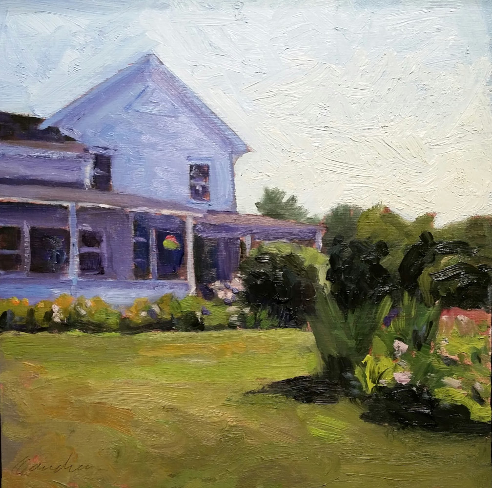 morning  garden  10x10in  by Michael  Gaudreau