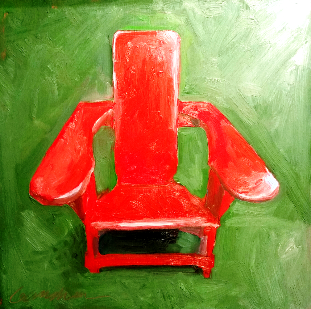 Oil painting westport chair 10x10in by Michael  Gaudreau