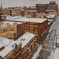 Oil painting Providence in Winter by Crystal Dipietro