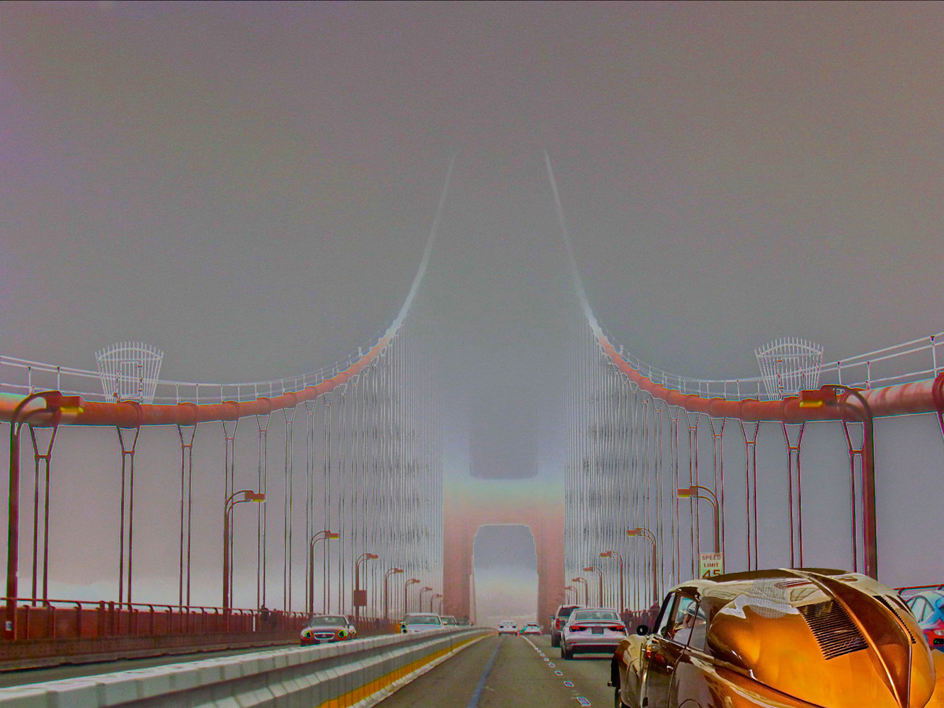 FOG ON THE GGB by Joeann Edmonds-Matthew
