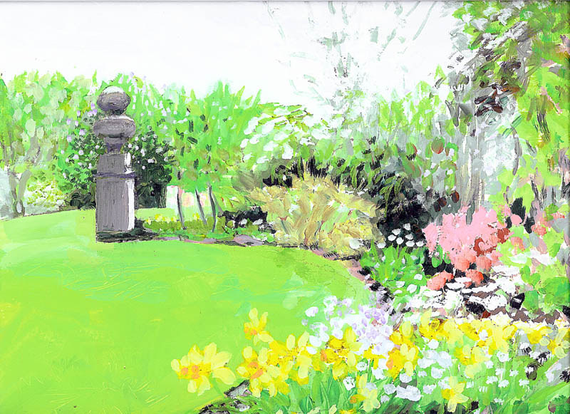 Garden with Art by Ginger Arthur