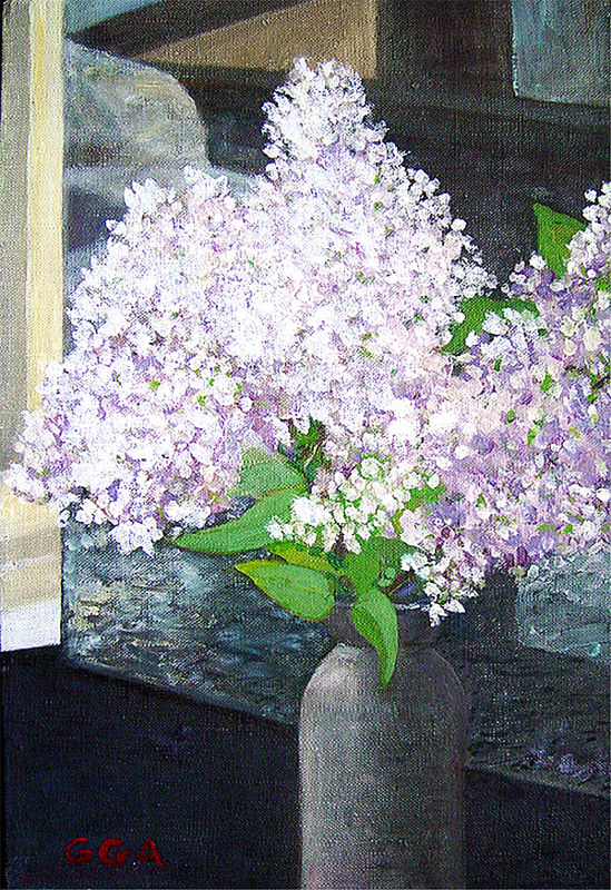 Lilacs in Bartlett Light by Ginger Arthur