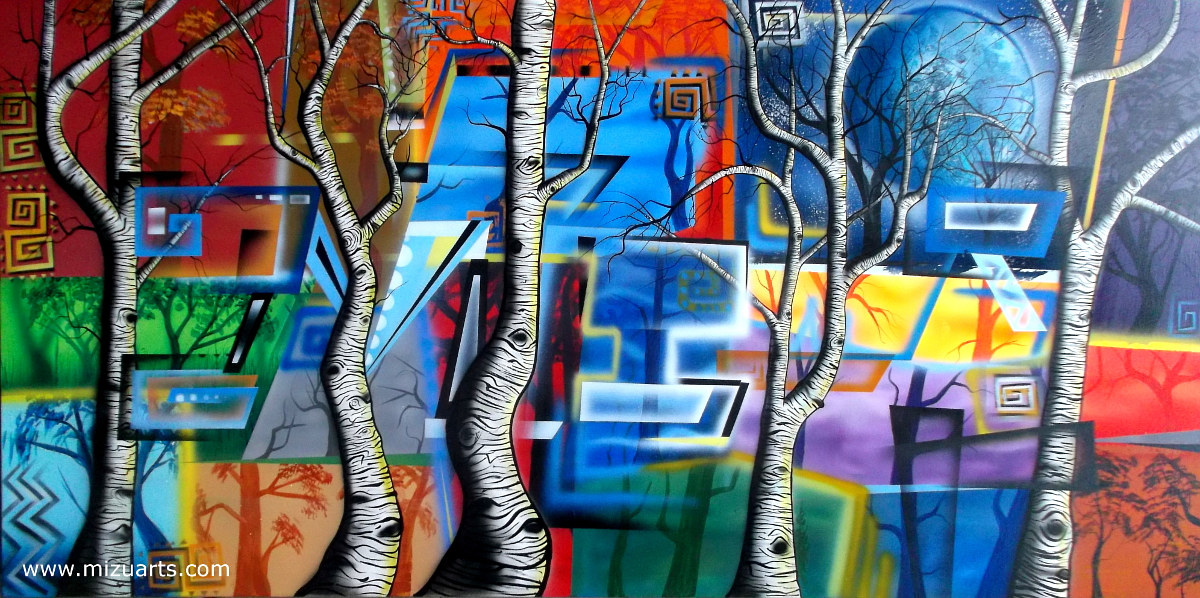 Zebra Aspens #8  by Isaac Carpenter