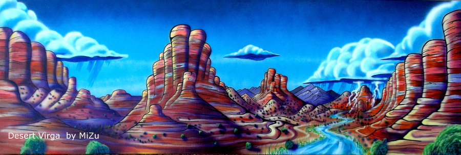Desert Virga  by Isaac Carpenter