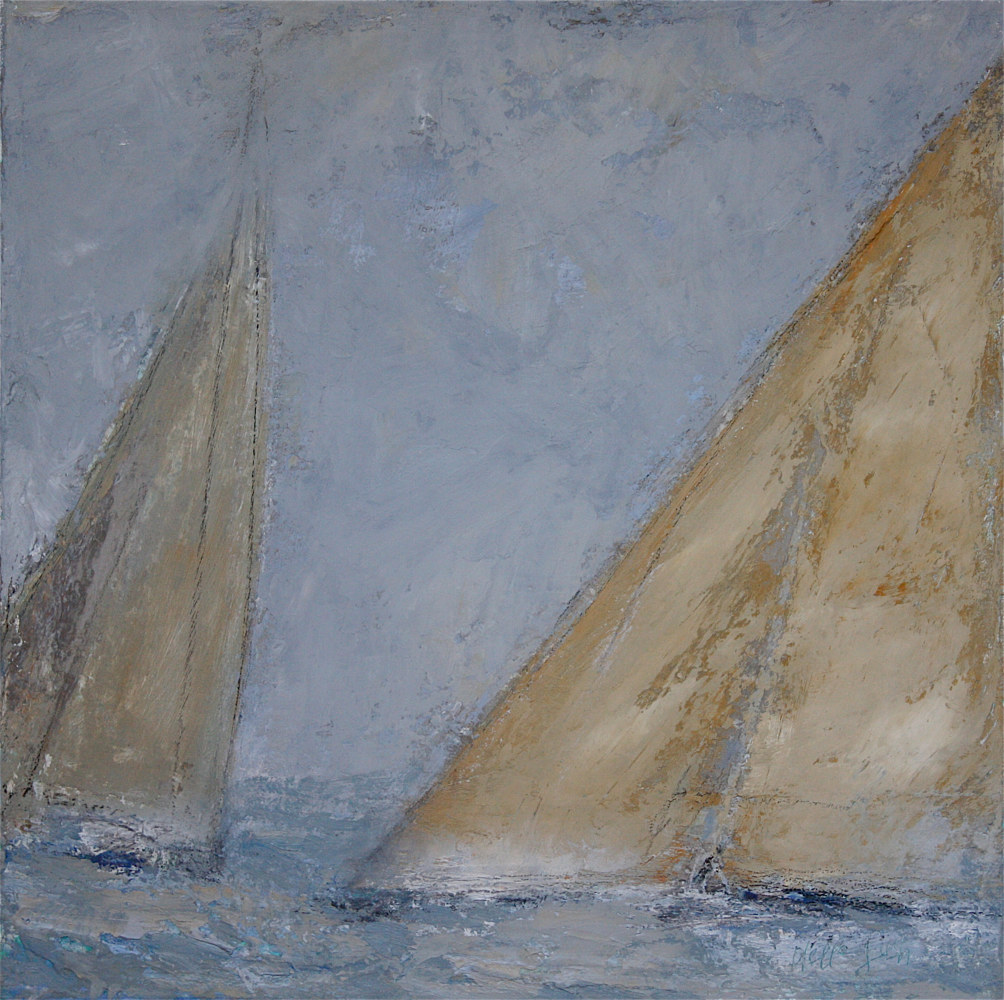 Oil painting SOLD/The Race @ Thomas Henry Gallery, Nantucket by Nella Lush