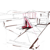 Private sculpture- concept sketch by John Greg Ball