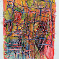 Watercolor Songlines 16 by Boudewijn Korsmit