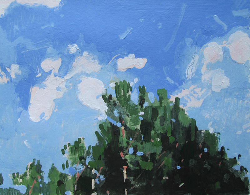 Acrylic painting Forest Sky by Harry Stooshinoff