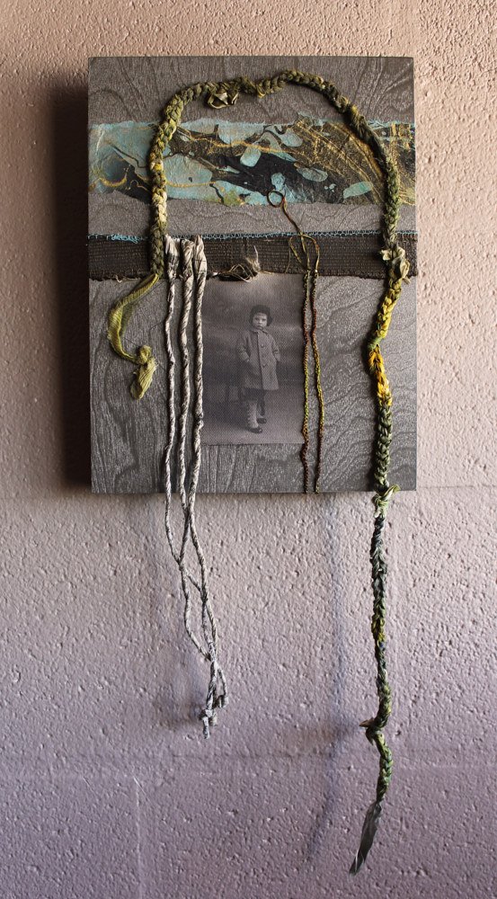 Mixed-media artwork Fenced In by Olga De klein