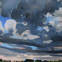 Acrylic painting Storm Coming, July 31 by Harry Stooshinoff