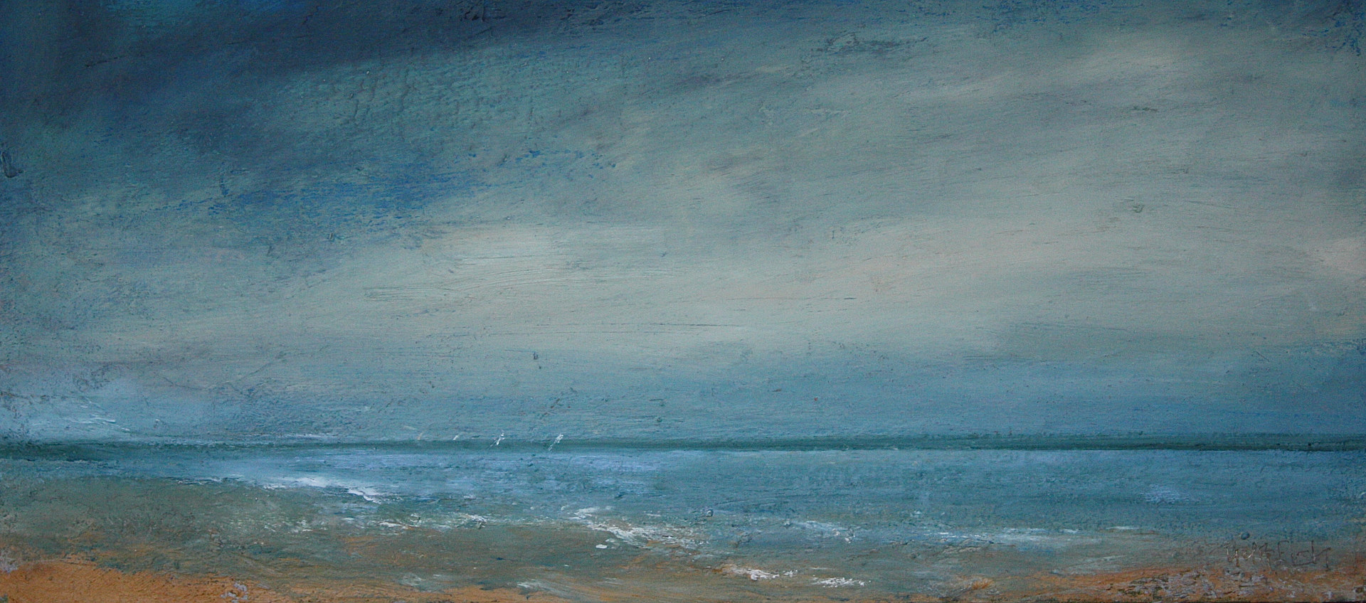 Oil painting Good Wind @ Cortile Gallery, Ptown by Nella Lush