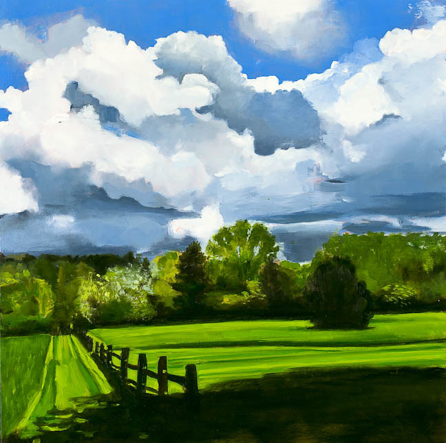 The Passing Storm (Darryl's Painting) by Patty Yehle