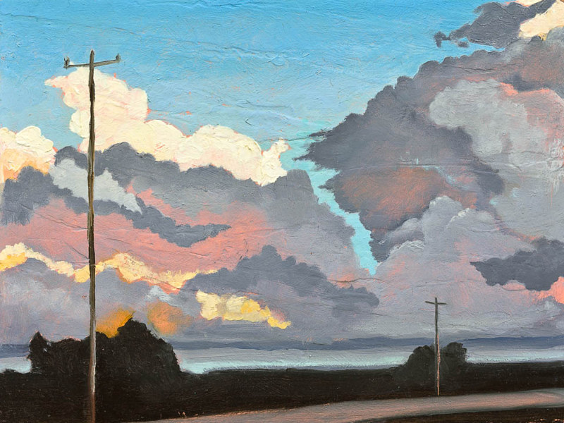 Drawing Adams Cloudscape by Patty Yehle