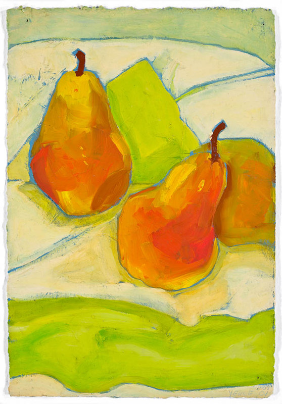 Drawing Ray's Pears #1 by Patty Yehle