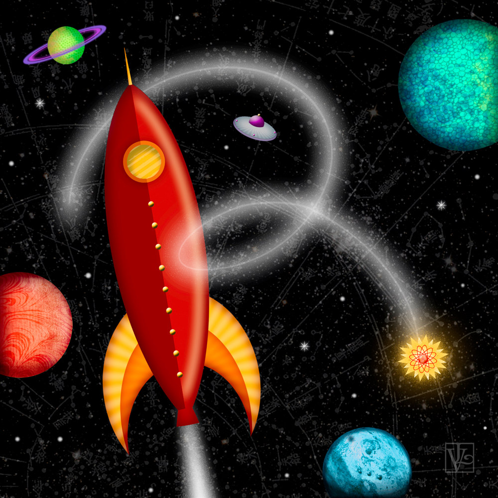 R is for Rocket  by Valerie Lesiak