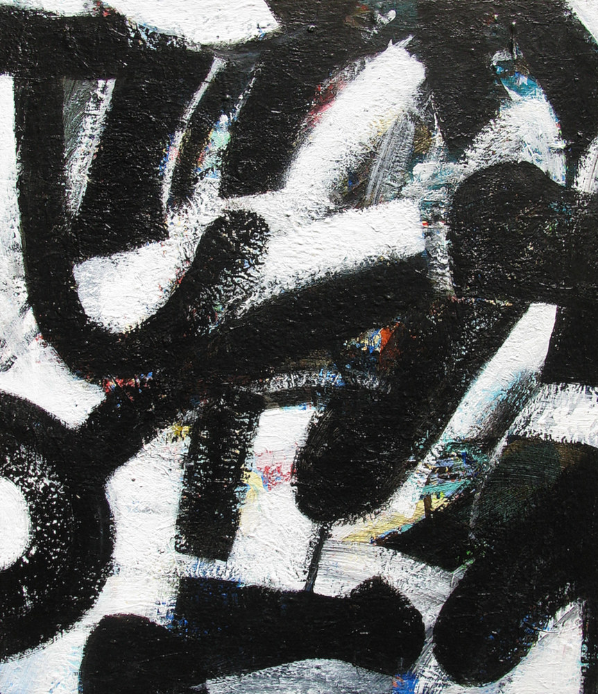 Acrylic painting Black Ice No.1, 2013 by Gary Jenkins